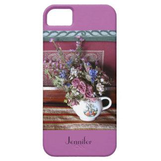iPhone SE, 5/5s Case Teapot Flowers Purple, Orchid iPhone 5 Cover