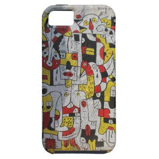 iphone SE + 5 Phone Case with graffiti image
