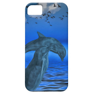 iPhone SE + iPhone 5/5S, Barely There: dolphins Barely There iPhone 5 Case