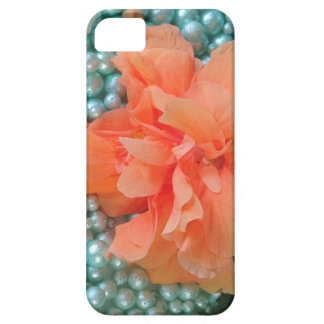 iPhone SE Orange Hibiscus on Beads Case For The iPhone 5