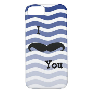 IPhone Six Barley There Case Mustache Blue Strip
