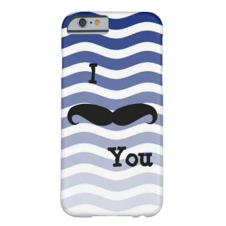 IPhone Six Barley There Case Mustache Blue Strip Barely There iPhone 6 Case