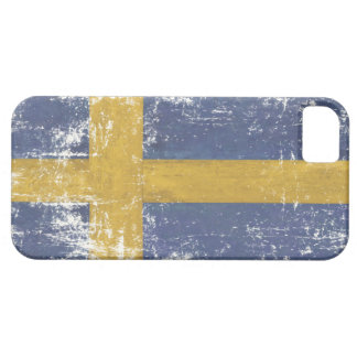 iPhone Skin with Distressed Flag from Sweden Case For The iPhone 5