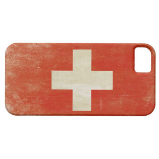 iPhone Skin with Distressed Switzerland Flag iPhone 5 Cover