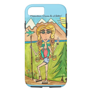 Iphone tough phone case Mountain Diva