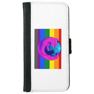 iPhone wallet/cover with Rainbow and Firefox iPhone 6 Wallet Case