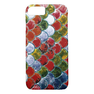 iPhone Watercolor Fantasy Rainbow Koi Scales Case
