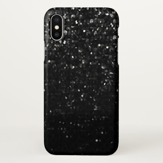 iPhone X Case Black Crystal Bling Strass
