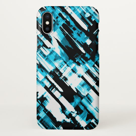 iPhone X Case Blue Black abstract digitalart G253