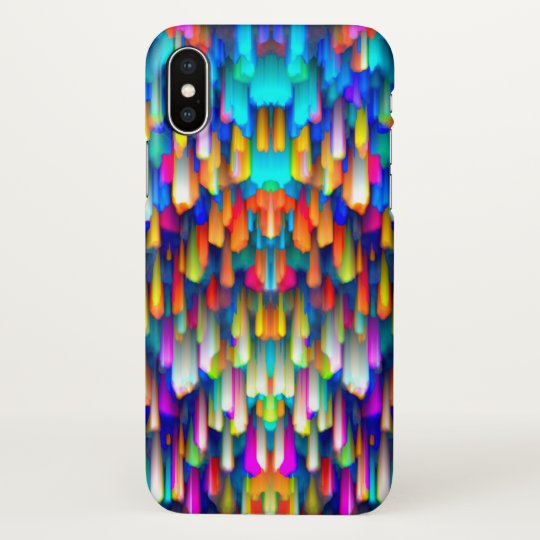 iPhone X Case Colourful digital art splashing