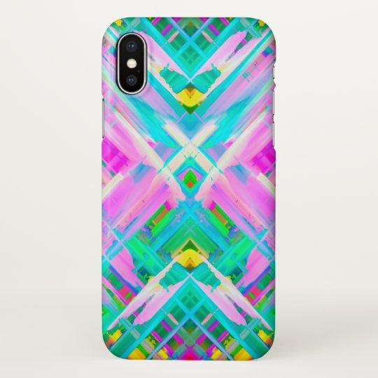 iPhone X Case Colourful digital art splashing G473