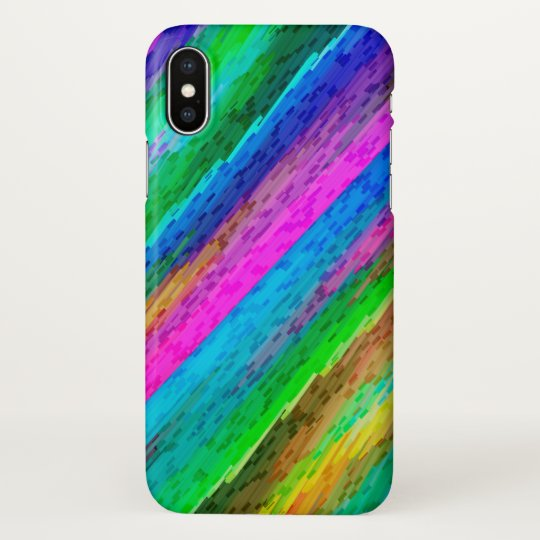iPhone X Case Colourful digital art splashing G478