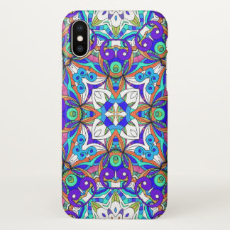 iPhone X Case Drawing Floral Doodle G3