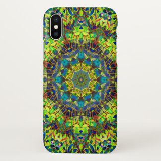 iPhone X Case Fractal Floral Abstract G89
