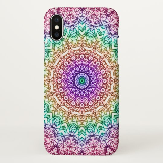 iPhone X Case Mandala Mehndi Style G379