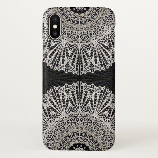 iPhone X Case Mandala Mehndi Style G384