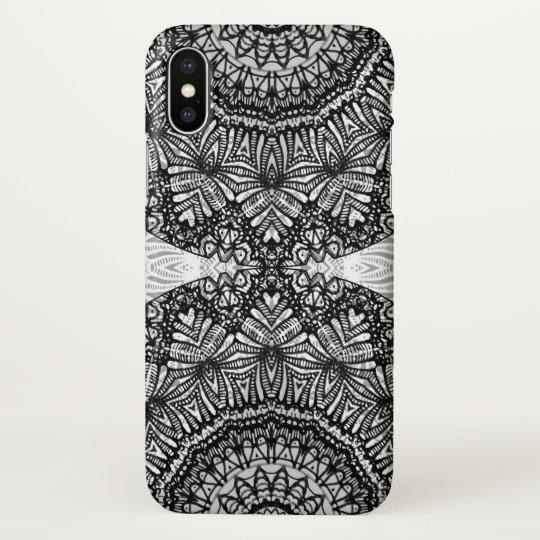 iPhone X Case Mandala Mehndi Style G444