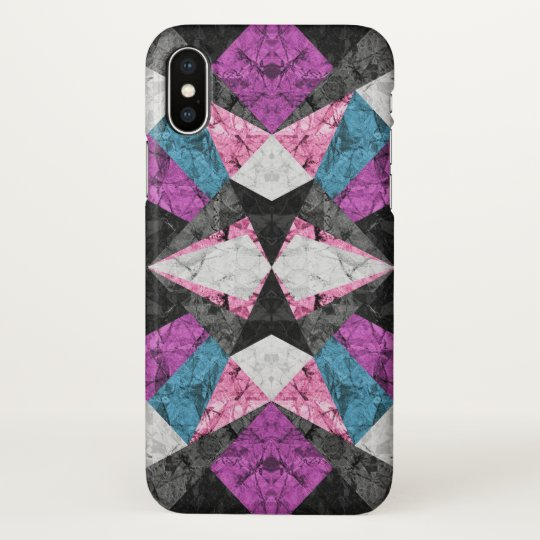 iPhone X Case Marble Geometric Background G438