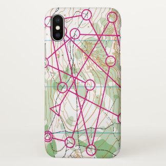 Iphone X case - Orienteering course