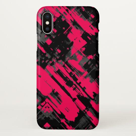 iPhone X Case Pink Black abstract digitalart G75