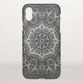 iPhone X Clearly Case Drawing Floral Doodle G10