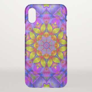 iPhone X Clearly Case Floral Fractal Art G445