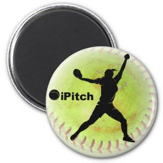 iPitch Fastpitch Softball Fridge Magnet