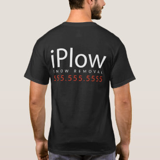 iPlow. I Plow Snow. Snow Removal Promotional Merch T-Shirt