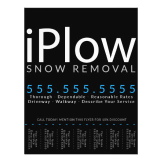 iPlow. Snow Removal. Snow Plowing Tearsheet Ad Flyer