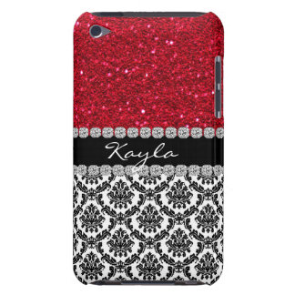 IPOD BLING  CRYSTAL LOOK Damask Design CASE