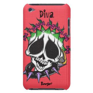Ipod bt - Diva Glam Skull iPod Case-Mate Case