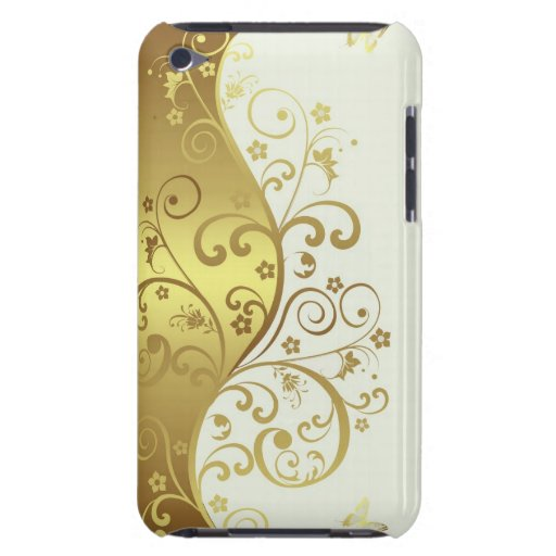 iPod Case--Ivory & Gold Swirls iPod Touch Cover