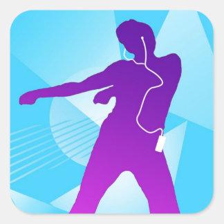iPod Jam Square Sticker