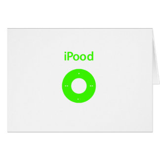 Ipod spoof Ipood green Greeting Card