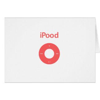 Ipod spoof Ipood pink Card