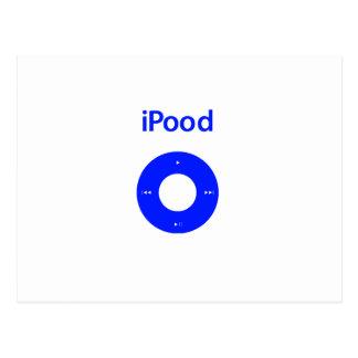 Ipod spoof ipood post card