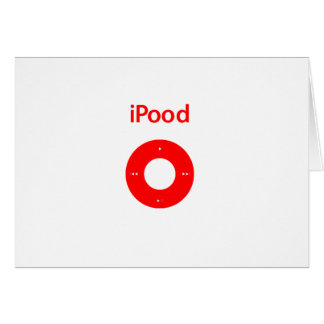 Ipod spoof Ipood red Greeting Cards