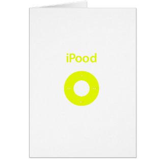 Ipod spoof Ipood yellow Greeting Card