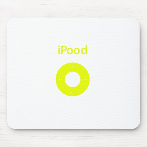 Ipod spoof Ipood yellow Mouse Pads
