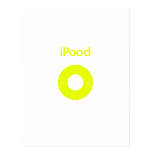 Ipod spoof Ipood yellow Post Cards