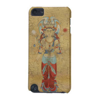iPod Touch4G - 8 Arm Guan Yin Buddha Crackle Back iPod Touch 5G Cases