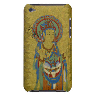 iPod Touch4G - Guan Yin Buddha Maple Leaf Backgr iPod Touch Covers