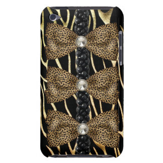 IPod Touch Case with faux leopard skin