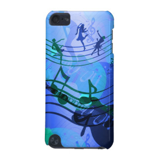 iPod Touch Music Notes Blue White iPod Touch (5th Generation) Cover