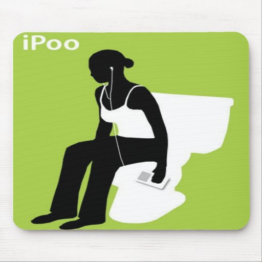 iPoo ipod musepads Mouse Pad