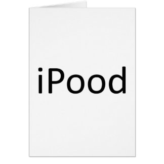iPood Greeting Card
