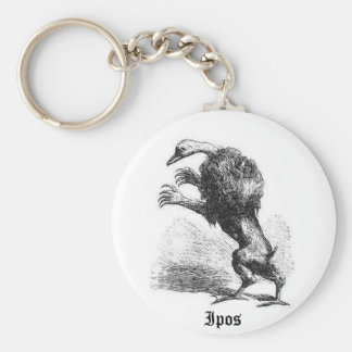 Ipos Woodcut Style Keychain