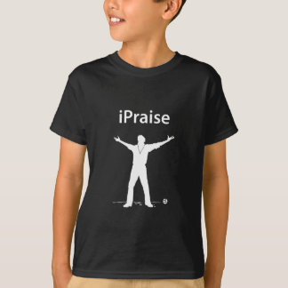 iPraise (White): Apple iPod Parody Tee Shirts