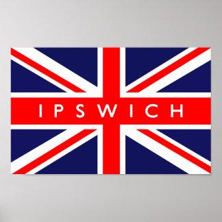 Ipswich UK Flag Poster