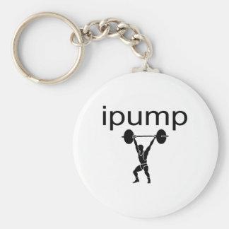 ipump basic round button key ring